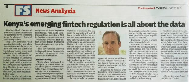 Kenya's Emerging Fintech Regulation: It's All About the Data